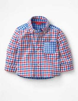 Soft Red/Skipper Blue Check Smart Baby Shirt