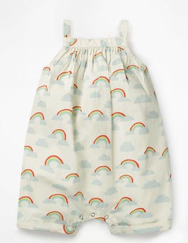 Multi Rainbows Short Rainbow Romper