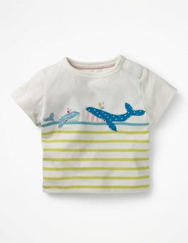 Zest/Camper Blue Whale Seaside Appliqué T-shirt
