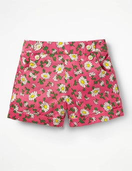 Vintage Daisy Bright Turn-up Shorts