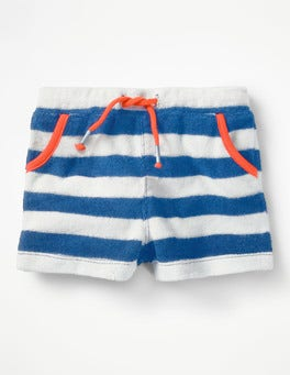 Skipper Blue/Ivory Towelling Shorts