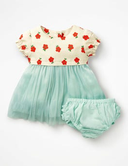 Rosehip Red Vintage Daisy Pretty Tulle Dress
