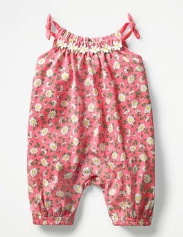 Vintage Daisy Jersey Daisy Romper