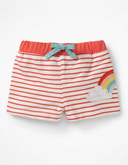Stripy Appliqué Shorts
