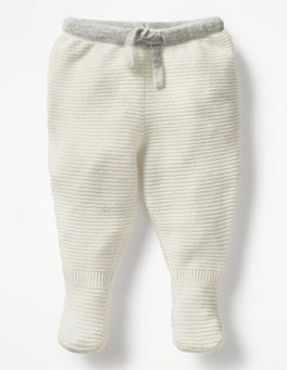 Ecru Cashmere Knitted Pants