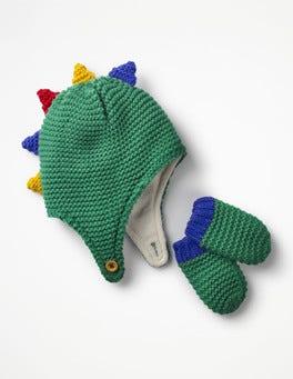Dinosaur Hat & Mittens Set