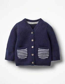 Beacon Blue Pocket Cashmere Cardigan