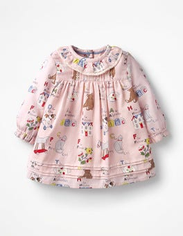 Multi ABC Nostalgic Pleated Dress