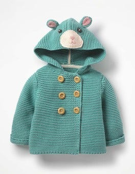 Aquamarine Green Fun Knitted Jacket