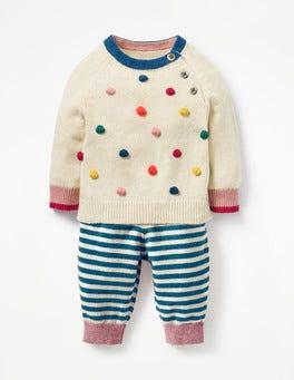 Ecru Multi Bobble Fun Knitted Play Set