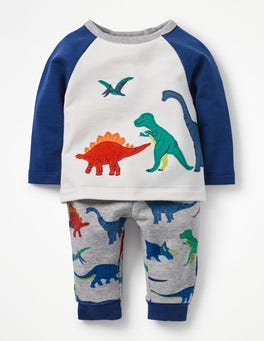 Ecru Dinosaurs Fun Appliqué Play Set