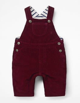 Burgundy Red Classic Cord Dungarees