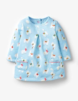 Sky Blue Llamas Cosy Dress