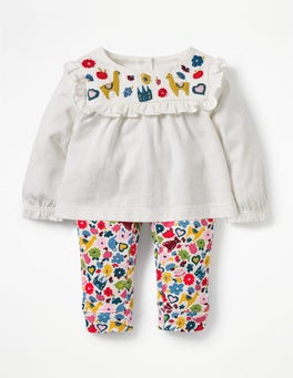 Multi Tiny Toys Embroidery Printed Jersey Play Set