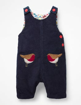 Prussian Blue Robins Fun Cord Playsuit
