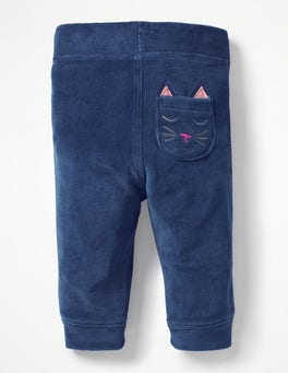 Starboard Blue Cat Pocket Pet Velour Pants