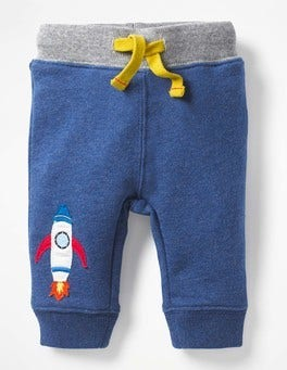 Beacon Blue Rocket Novelty Appliqué Trousers