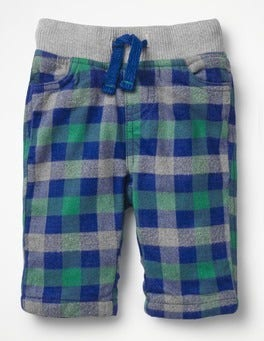 Orion Blue/Wild Green Check Cosy Checked Trousers
