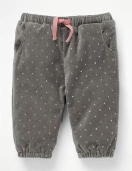 Rock Grey Glitter Spot Sparkly Woven Trousers