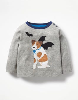 Grey Marl Sprout Batdog T-shirt