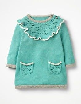 Aquamarine Green Frill Knitted Dress