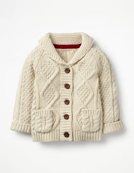 Ecru Marl Cable Cardigan