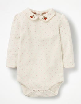 Provence Dusty Pink Spot Pretty Collared Bodysuit