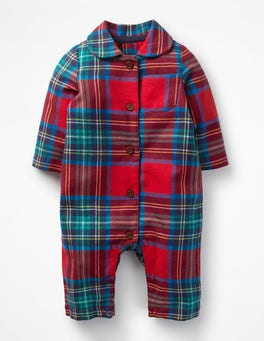 Salsa Red Check Checked Flannel All-in-one