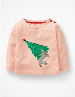Provence Dusty Pink Tree Festive Tree T-shirt