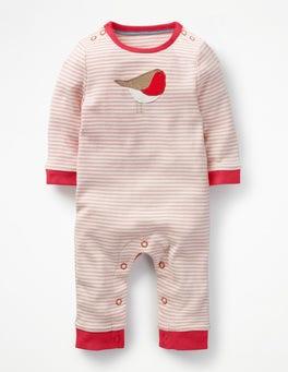 Provence Dusty Pink/Ecru Robin Robin Jersey Romper