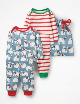 Wren Blue Winter Bears Cosy Jersey Play Set