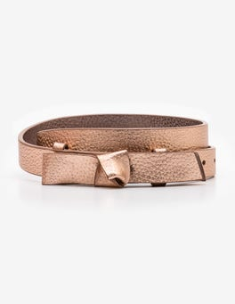 Rose Gold Metallic Sena Waist Belt