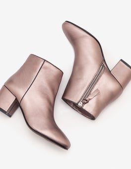Pewter Metallic Tredegar Ankle Boots