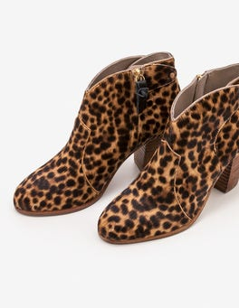 Tan Leopard Hoxton Ankle Boots