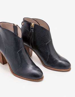 Navy Hoxton Ankle Boots