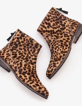 Tan Leopard Kingham Ankle Boots