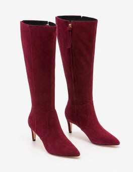 Mulled Wine Ledbury Knee High Boots