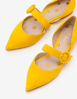 English Mustard Evie Pointed Flats