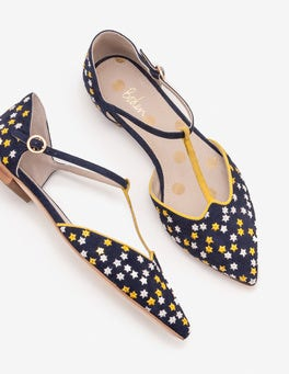 Navy Layla T-Bar Flats