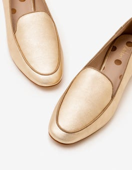 Pale Gold Metallic Imogen Loafers
