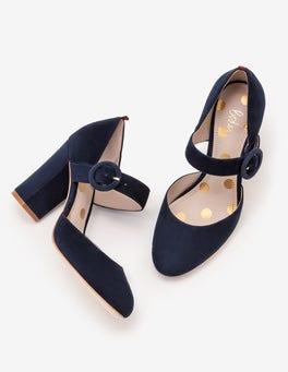 Navy Evie Heels