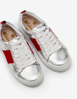 Silver Metallic Classic Trainers