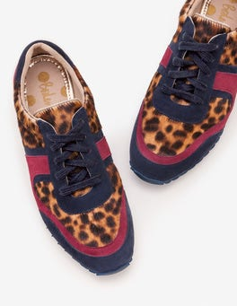 Tan Leopard Hotchpotch Trainers