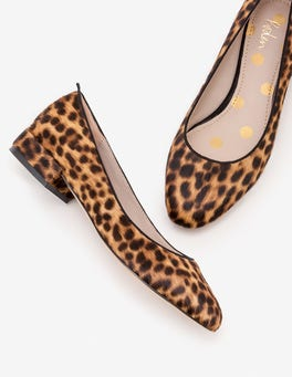 Tan Leopard Amelie Low Heel Ballerinas