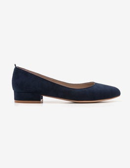 Navy Amelie Low Heel Ballerinas