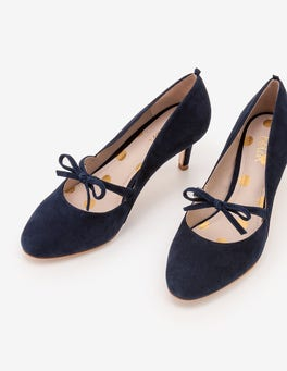 Navy Anthea Mid Heels