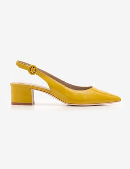 Hot Mustard Annie Pointed Slingbacks
