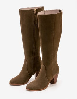 Military Green Temple Boho Boots