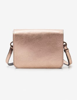 Rose Gold Metallic Broadgate Crossbody Bag