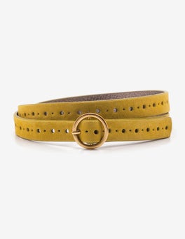 Hot Mustard Brogued Belt